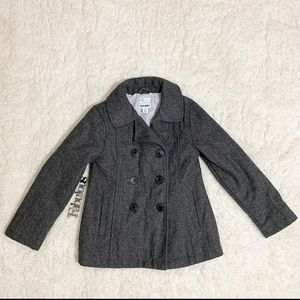 Old Navy grey wool girl pea coat